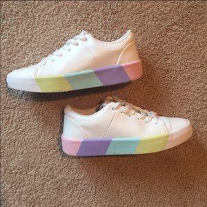 Aldo rainbow sole decorated sole sneakers 6.5